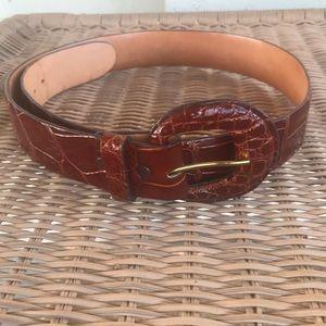 Vintage Genuine Alligator Belt